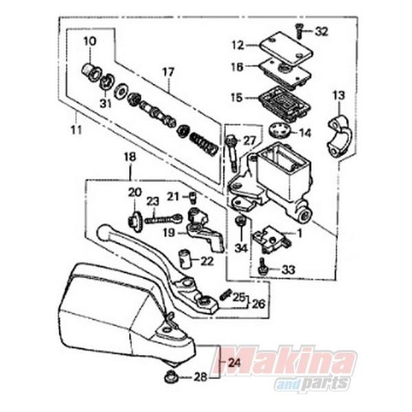 53170MN9000 Hand Brake Lever Honda XRV-750 Africa Twin