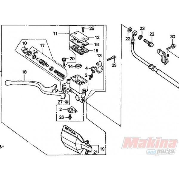 53175MM9006 Honda Hand Brake Lever XL-600V Transalp '88-'93