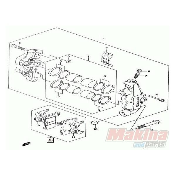 Front Brake Pads Suzuki GSXR-1000 '04-'08 GSXR-600 '04-'10