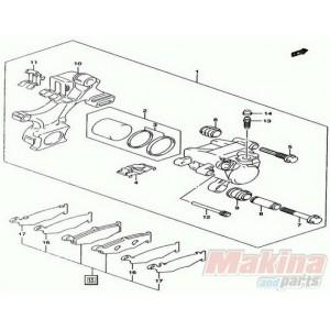 6910144820 Rear Brake Pads Suzuki GSXR-1000 '07-'08