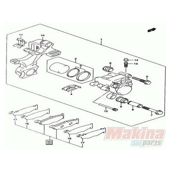 6910144820 Τακάκια Οπίσθια Suzuki GSXR-1000 '07-'08