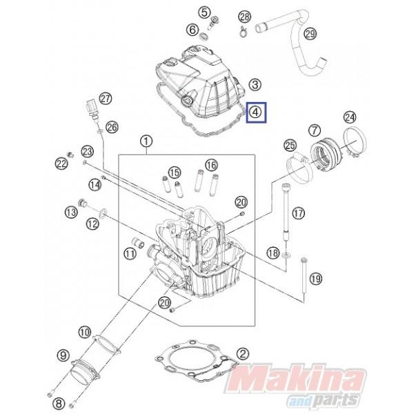 78036053100 Valve Cover Gasket KTM EXC-400-450-500-530 '08-'16