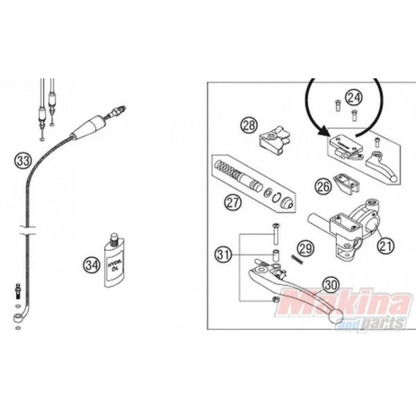60032063100 Clutch Pipe KTM Andventure 950-990