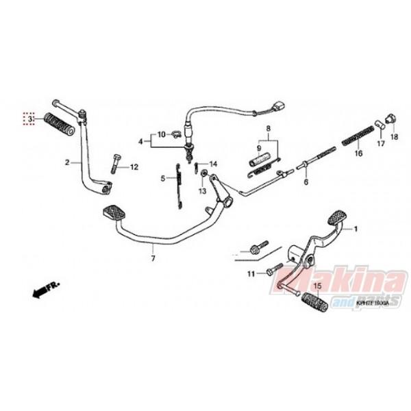 28311342000 Rubber, Kick Starter Honda ANF-125 Innova