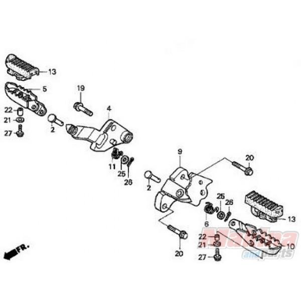 50616MM9000 Right Main Step Honda XLV-XRV