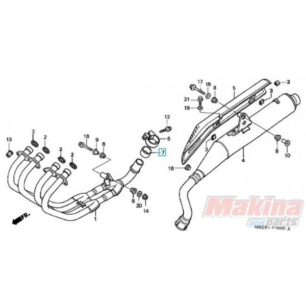 18392MG7750 Packing Muffler Honda CB-600 Hornet CBF-600