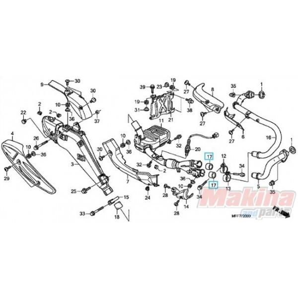 18391MN5650 Packing Muffler Honda XL-700V Transalp XRV-750