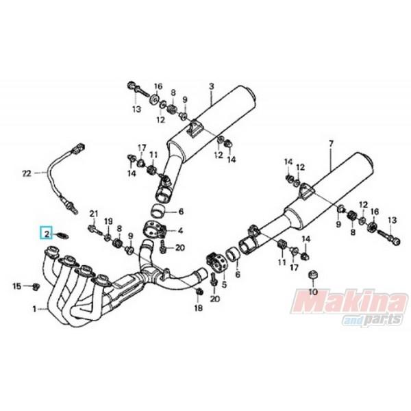 18291MW3670 Φλάντζα Λαιμού Εξάτμισης Honda CBR-1100XX XRV