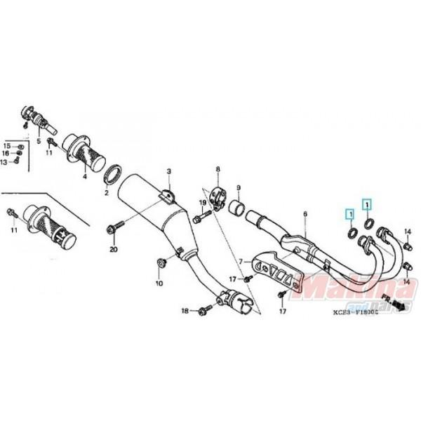 18291KZ1670 Φλάντζα Λαιμού Εξάτμισης Honda XR-250
