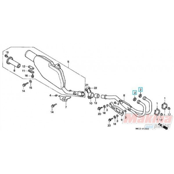 18291MN5650 Φλάντζα Λαιμού Εξάτμισης Honda XR-400-600