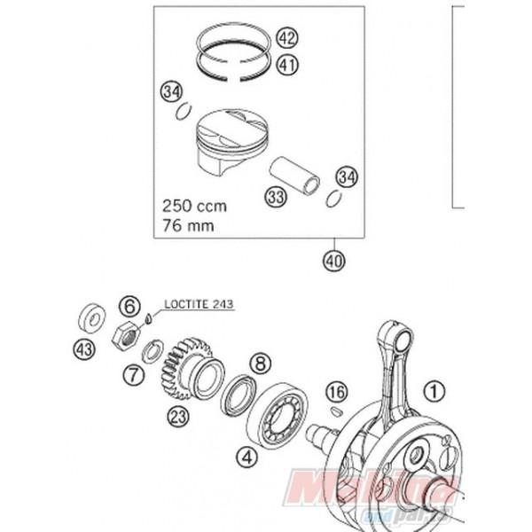 77130032000 Piston Ring (Oil) KTM EXC-F SX-F 250