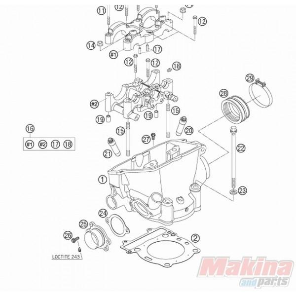 77030036000 Cylinder Head Gasket KTM EXC-F250 '06-'11 SX