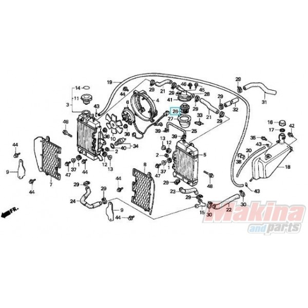 19300KE8000 Thermostat Assy Honda XRV-XLV