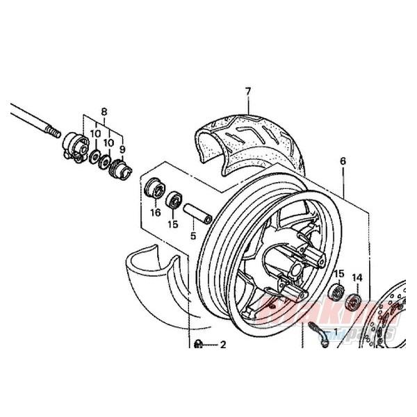 44806KFG000 Γρανάζι Ατέρμονα Κοντέρ Honda FES-250 Foreshight