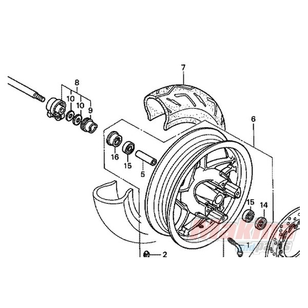 44806KFG000 Speedometer Gear Honda FES-250 Foresight