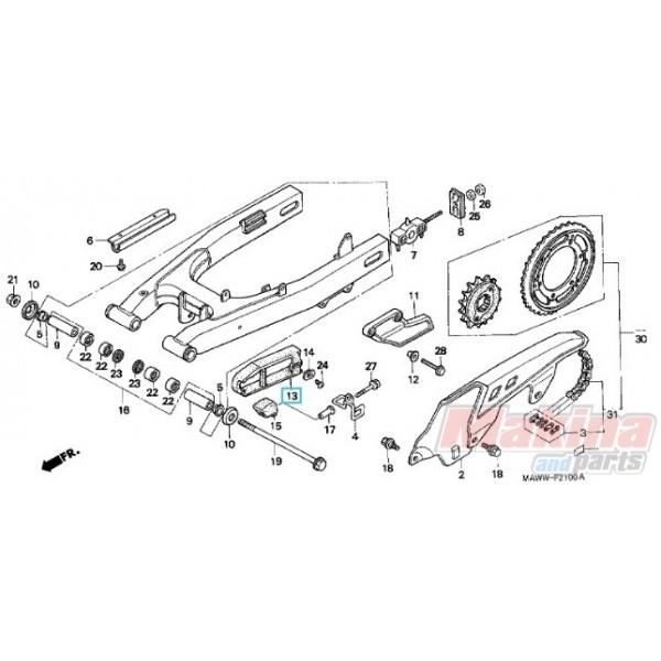 52170MΜ9000 Γλύστρα Αλυσίδας Honda XL-600V Transalp