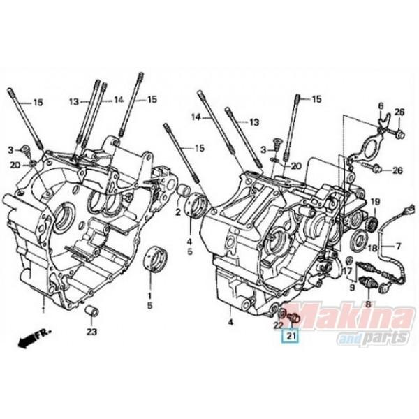 9280014000 Τάπα Εξαγωγής Λαδιού Honda Transalp-Africa Twin