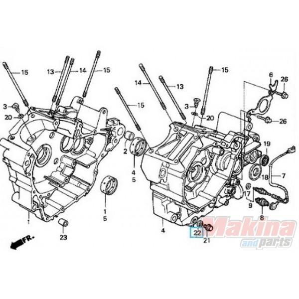 9410914000 Ροδέλα Τάπας Εξαγωγής Λαδιού Honda Transalp