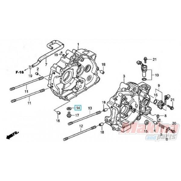9410912000 Washer Oil Drain Plug Honda CB-CBF-CBR-Innova