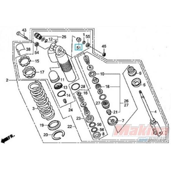 PR-26-310013 PRO-X Upper Shock Bearing Honda CRF-250R-X