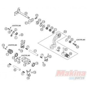 54734031000 Shift Lever Cpl KTM EXC125250300 SX125