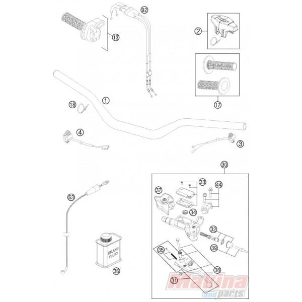 54802031000 Μανέτα Συμπλέκτη Brembo KTM EXC/SX