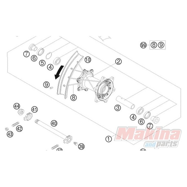 0625060058 Rear Wheel Bearing (6005) KTM EXC-SX '98-'12