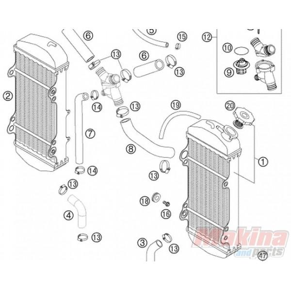 41001052000 Λάστιχα Ψυγείου KTM EXC-SX-LC 4-Adventure-LC 8