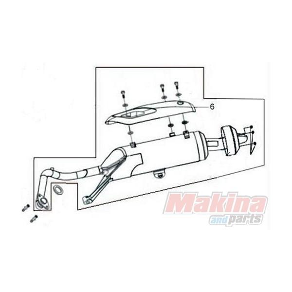 18318H3A000 Muffler Protector Sym Joyride-200 EFI