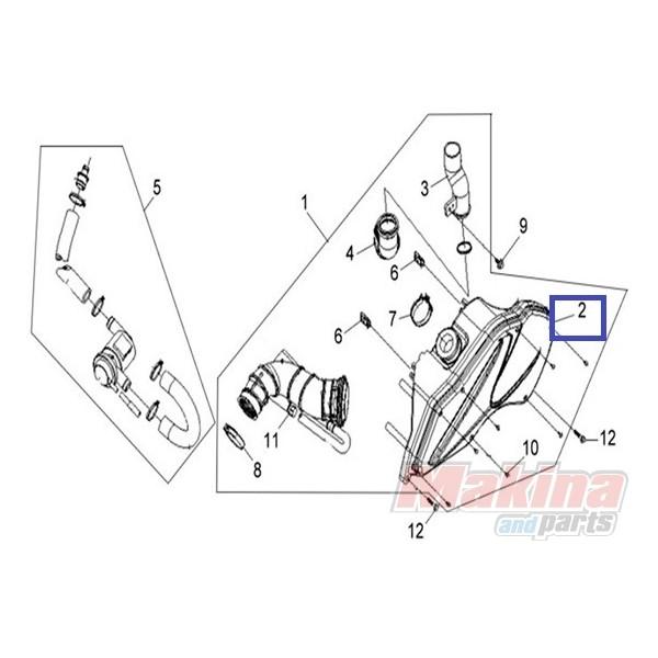 17211VS1000 Air Filter Sym VS-125/150