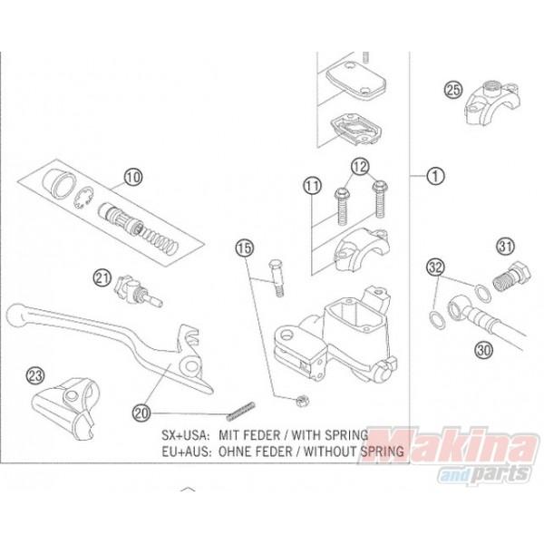 54813002100 Hand Brake Lever KTM EXC-SX '05-'08
