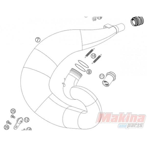 0770440030 O'ring Λαιμού Εξάτμισης KTM EXC-SX 2stroke