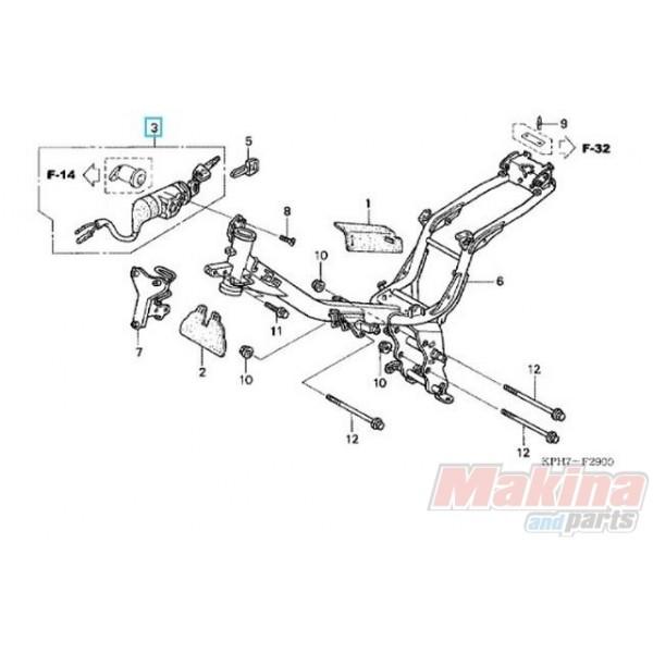 35010KPH970 Key Set Honda ANF-125 Innova '03-'06