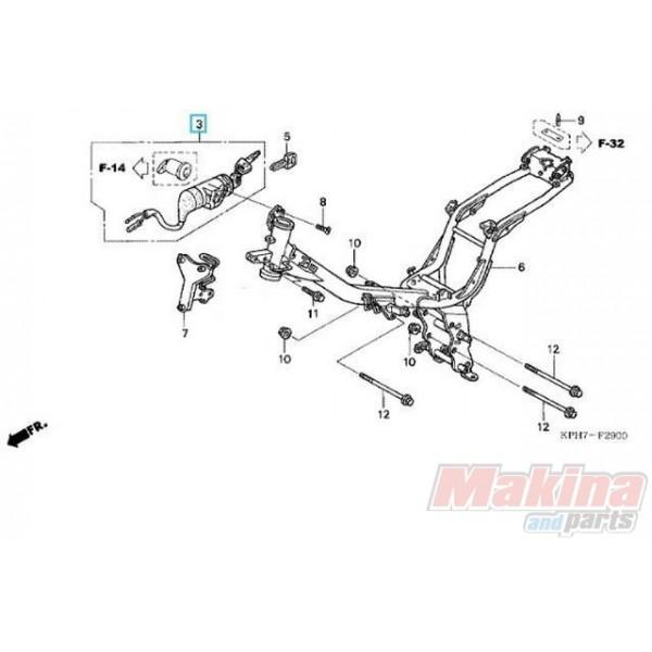 35010KTMD20 Key Set Honda ANF-125i Innova '07-'12