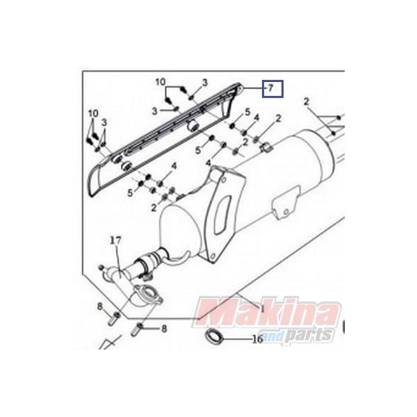 18330HMA000 Muffler Protector Sym GTS-250/300