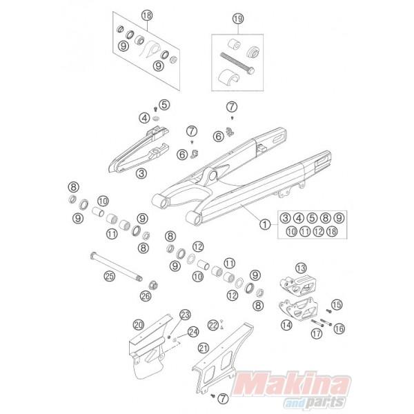 Γλύστρα Ψαλιδιού KTM EXC-125/200/250/300/400/450/525 SX