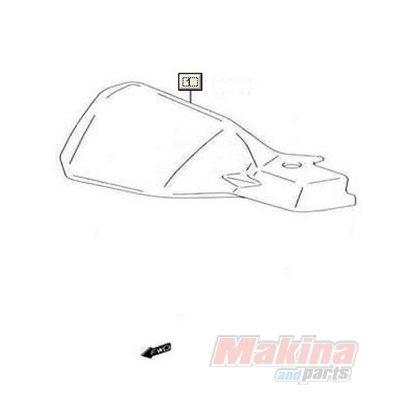 5734127G02291 Cover Right Knuckle Suzuki DL-1000 V-Strom