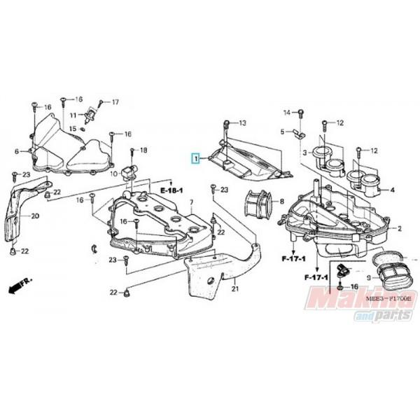 17210MEE000 Φίλτρο Αέρος Honda CBR-600RR '03-'06