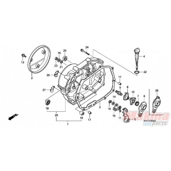 11370KPH900 Προστατευτικό Κάλυμμα Δεξί Κινητήρα Honda ANF
