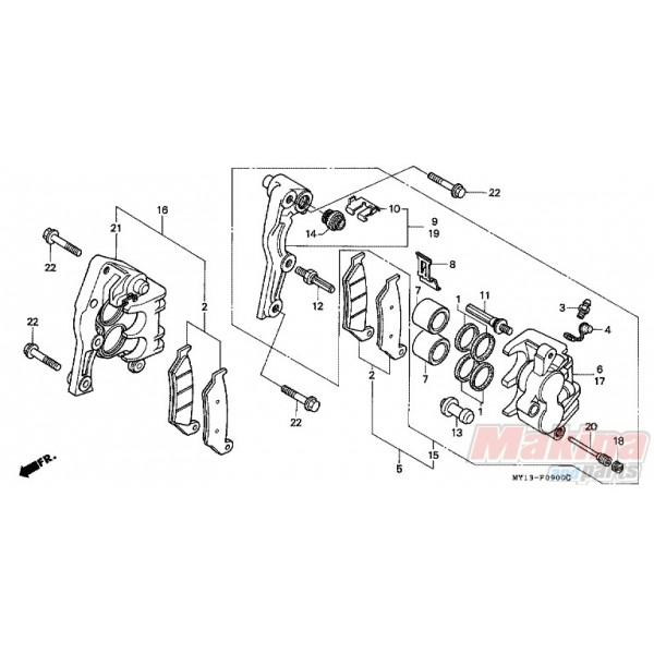 45210MAY006 Caliper Bracket Front Right Honda XRV-750