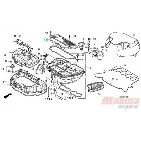 17210MFL000 Air Filter Honda CBR-1000RR '08-'11