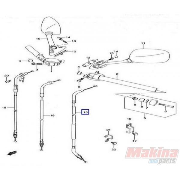 04 gsxr 600 wiring diagram of lymph nodes in groin 5820029g00 clutch cable suzuki gsxr-600-750 '04-'05