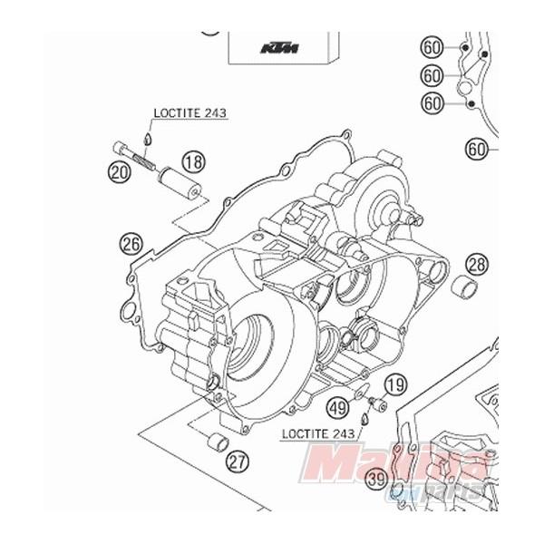 54830024000 Clutch Cover Gsket KTM EXC-250-300 SX-250 2-stroke