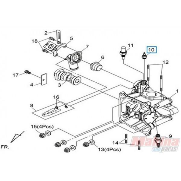 37750PC1004 Βαλβίδα Θερμοκρασίας SYM HD-125/200 GTS-250