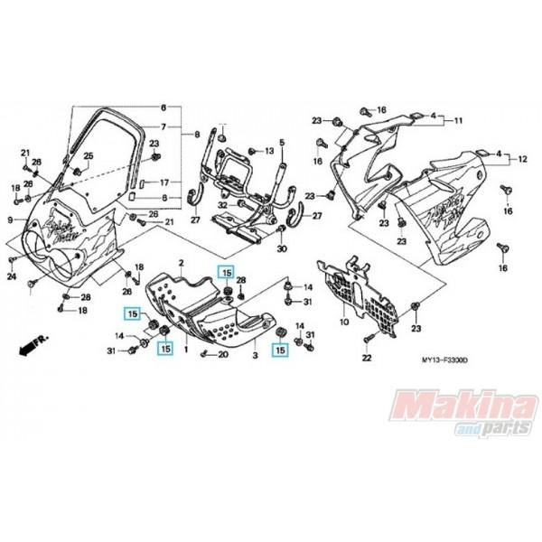 80152958680 Rubber Skid Plate Honda XRV-750 Africa Twin