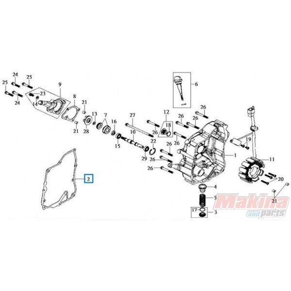 11394H9A000 Ignition Cover Gasket Sym HD-200 Joyride-200