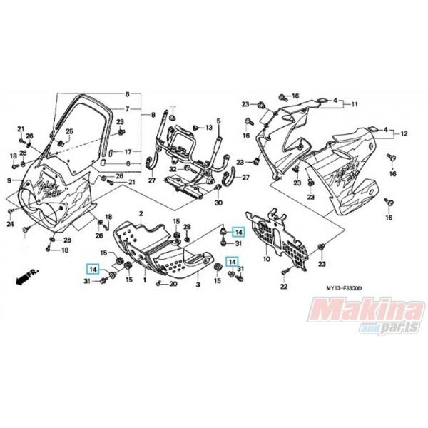 80101KB7600 Collar Skid Plate Honda XRV-750 Africa Twin