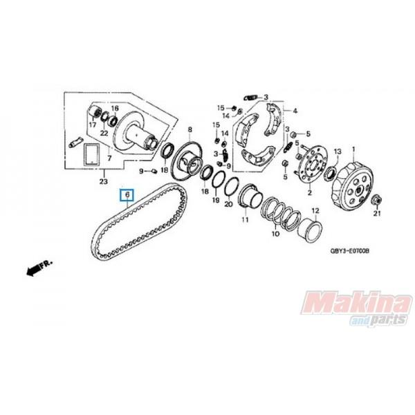 23100GBY901 Drive Belt Honda X8R-S X8R-X SH-50 Scoopy