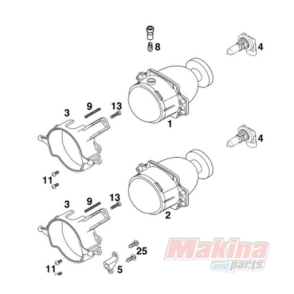 58714003000 Headlight Bulb KTM Duke-640
