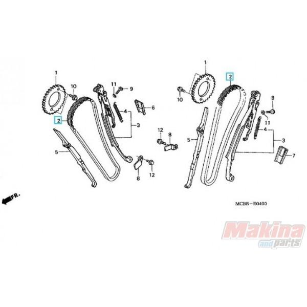 14401MN1671 Καδένα Εκκεντροφόρου Honda XRV-750 Africa Twin